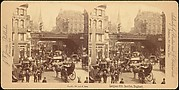 [Group of 4 Stereograph Views of Ludgate Hill, London, England]