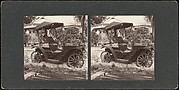 [Pair of Stereograph Views of Early Automobiles]