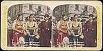 [Group of 3 Stereograph Views of Bulgarians in Traditional Clothing]