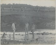[Three Boys Wading in a Creek]