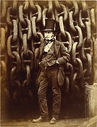 [Isambard Kingdom Brunel Standing Before the Launching Chains of the Great Eastern]