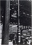 [Street Lamp and Elevated Train at Corner of Bowery and Grand]