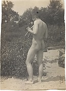 [Thomas Eakins, Nude, Playing Pipes]