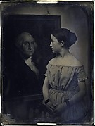 [Girl with Portrait of George Washingtion]