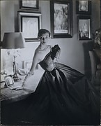 [Woman in Strapless Evening Gown, Possibly Evelyn Tripp in Apartment of George Platt Lynes]