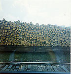 [Stacked Logs, En Route by Train from New York to Marfa]