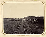 [View Along the Atlantic & Great Western Railway Showing Tracks and Locomotive]