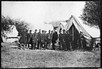 President Lincoln Visiting the Headquarters of the Army of the Potomac, Battlefield of Antietam, October 1862