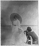 "Maggie Eakins and ""Harry"" with Woman with Parasol"