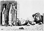 Osiride Pillars and Great Fallen Colossus, The Memnonium, Thebes