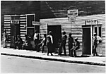 [Row of Barber Shops, Vicksburg, Mississippi]