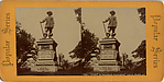 [Stereographic View of Pilgrim Statue, Central Park, New York]
