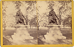 [2 Stereographic Views of Robert Burns Statue, Central Park, New York]