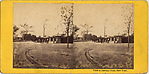 [7 Stereographic Views of Gate-Keeper's Huts and Entrances to Central Park, New York]
