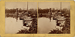 [46 Stereographic Views of Boat Landings and Boat Houses Near Bethesda Fountain, Central Park, New York]