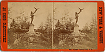 [3 Stereographic Views of Falconer Statue, Central Park, New York]