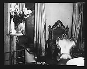 [Interior of Muriel Draper's Apartment Showing Vase of Flowers and Chairs, New York City]