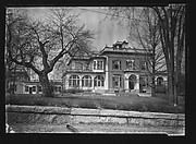 [Italianate Revival House with Enclosed Porches, From Street, Brookline, Massachusetts]
