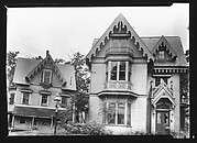 [Two Gothic Revival Houses with Decorative Vergeboards in Gables]