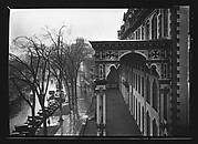 [View of Broadway with Parked Cars and Side View of Grand Union Hotel Porch, Saratoga Springs, New York]