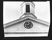 [Clock and Belltower Detail of Greek Revival Church, From Below]