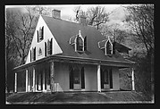 [Gothic Revival House with Pointed-Arch Windows, Chestnut Hill, Massachusetts]