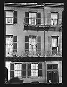[Apartment House Façade with Iron Grillwork Balcony, West Cedar Street, Boston, Massachusetts]