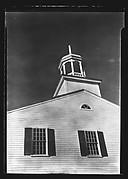 [Detail of Church Façade with Octagonal Belltower, Wellfleet, Massachusetts]