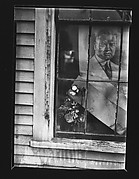 [Flowers and Poster of Herbert Hoover in House Window, Wellfleet, Massachusetts]