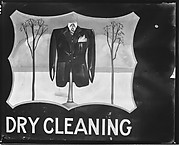 "[Hand-painted Sign ""Dry Cleaning"" with Man's Jacket and Trees in Cartouche, Near Baton Rouge, Louisiana]"
