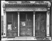 [Boarded Shopfront of The Plenge Chemical Company, Charleston, South Carolina]