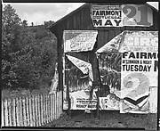 [Barn with Torn Advertisements for the Hagenbeck & Wallace Circus, Monongalia County, West Virginia]