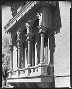 [Italianate Revival Arches and Columns on Brick Façade of Longwood Plantation House, Near Natchez, Mississippi]