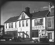 [Lum Brothers Stables with Parked Cars on Street, Natchez, Mississippi]