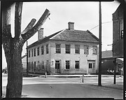 [Brick House on Corner (Barber Shop) with Tree in Foreground, Feliciana Parish, Louisiana]