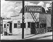 [River Hill Cafe on Corner with Telephone Pole in Foreground, Alabama]