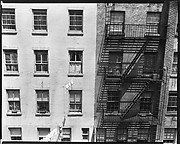 [Apartment Building Façades with Clotheslines and Fire Escape, New York City]