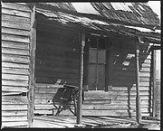 [Porch of Wooden House, Outskirts of Tupelo, Mississippi]