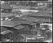 [Wooden Houses with Porches and Fenced Yards, From Elevated Position, Atlanta, Georgia]