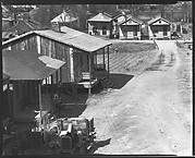 [Wooden Houses and Jalopy by Dirt Road, From Elevated Position, Atlanta, Georgia]
