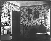 [Interior with Radio, Flower Print Wallpaper, and Picture of Franklin Roosevelt]