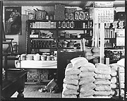 [Interior of General Store with Stacks of Yeast Sacks, Moundville, Alabama]