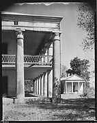 [Corner Colonnade of Uncle Sam Plantation House and Smaller Greek Temple Building, St. James Parish, Louisiana]