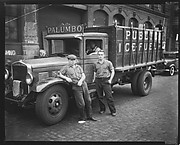 [Workers in Front of Palumbo Fuel Truck, New York City]