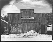 [Corrugated Tin Façade of Contractor's Office, Moundville, Alabama]
