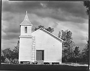 [Wooden Church with Adjacent Belltower and Ladder on Façade, Southeastern United States]