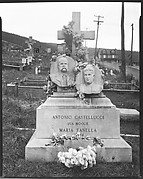 [Funerary Monument with Portrait Relief Carvings, Bethlehem, Pennsylvania]