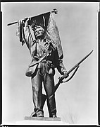 [Battlefield Monument of Soldier with Upraised Flag, Vicksburg, Mississippi]