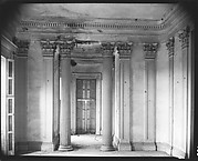 "[Dining Room Interior with Corinthian Columns (""Breakfast Room"") at Belle Grove Plantation, White Castle, Louisiana]"