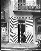 "[Painted Doorway of ""French Opera"" Barber Shop on Bourbon Street, New Orleans, Louisiana]"
